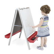 Toddler Adjustable Easel With Write and Wipe Panels