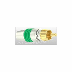 ATLONA RCA CONNECTOR ( GREEN COLOR ) - SOLDER TYPE