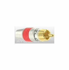 ATLONA RCA CONNECTOR ( RED COLOR ) - SOLDER TYPE