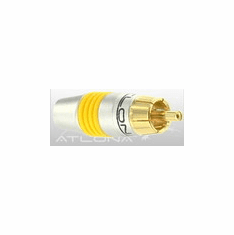 ATLONA RCA CONNECTOR ( YELLOW COLOR ) - SOLDER TYPE