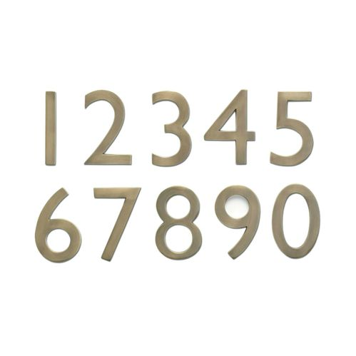 "4"" House Numbers (Antique Brass)"