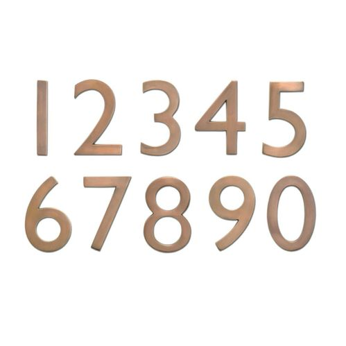 "4"" House Numbers (Antique Copper)"