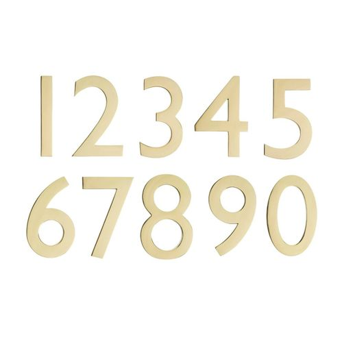 "4"" House Numbers (Polished Brass)"