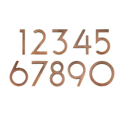 "4"" Wright House Numbers (Antique Copper)"