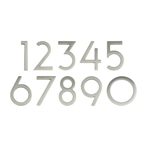 """4"""" Wright House Numbers (Satin Nickel)"""
