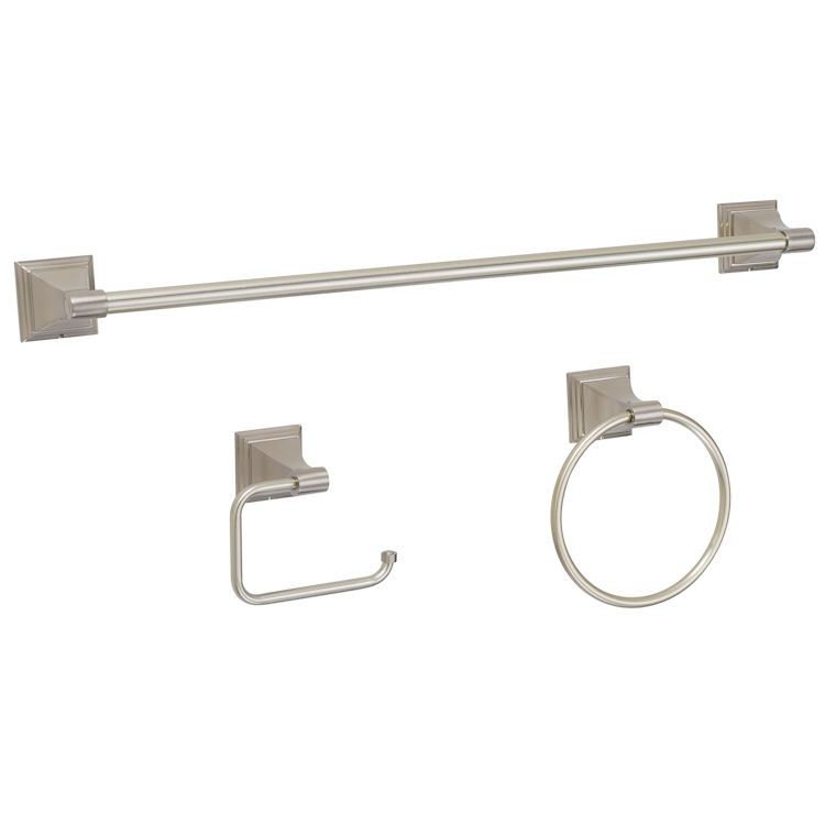 3 Piece Satin Nickel Bathroom Hardware Set