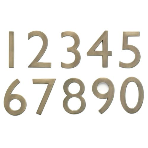 "5"" House Numbers (Antique Brass)"