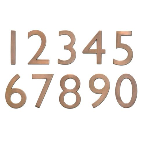 "5"" House Numbers (Antique Copper)"