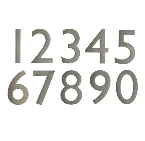 """5"""" House Numbers (Antique Pewter)"""