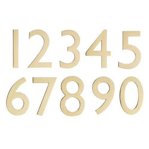 "5"" House Numbers (Polished Brass)"