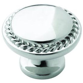 Amerock BP53001-26 Polished Chrome Rope Cabinet Knob