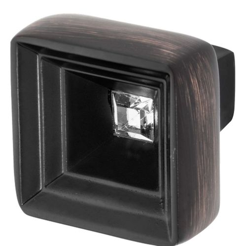 Hidden Treasure Knob, Oil Rubbed Bronze, Clear