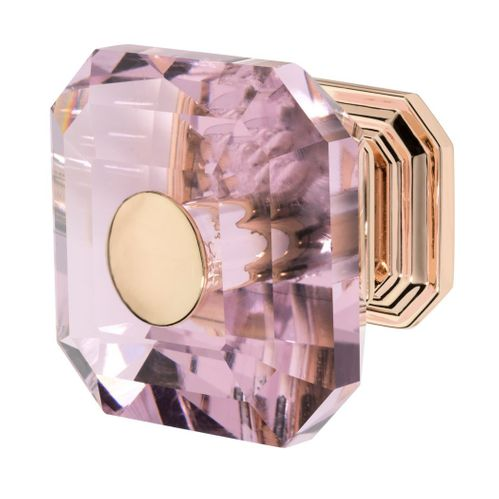 Clubhouse Knob, Rose Gold, Pink