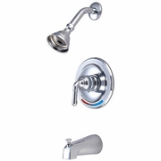 Chrome Shower and Tub Faucet Sets