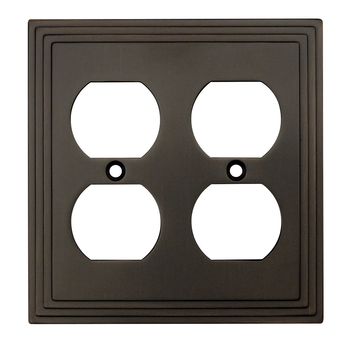 Cosmas 25012 Oil Rubbed Bronze Double Duplex Outlet Wall Plate
