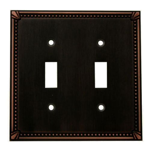 Cosmas 44031 Oil Rubbed Bronze Double Toggle Switchplate Cover