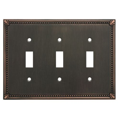 Cosmas 44032 Oil Rubbed Bronze Triple Toggle Switchplate Cover