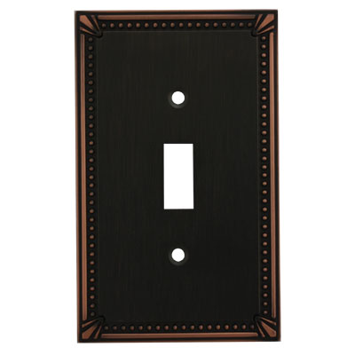 Cosmas 44055 Oil Rubbed Bronze Single Toggle Switchplate Cover