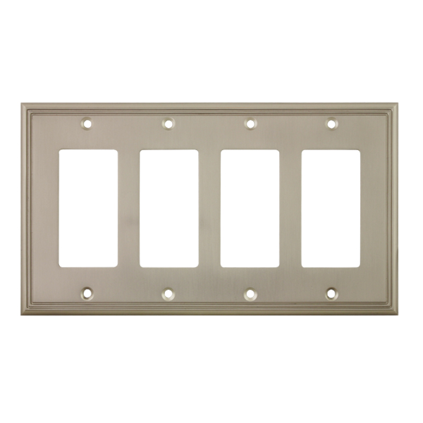 Cosmas 65075 Sn Satin Nickel Quad Gfci Decora Wall Plate