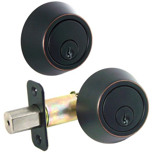 Designers Impressions Oil Rubbed Bronze Double Cylinder Deadbolt