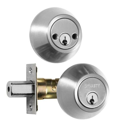 Dynasty Double Cylinder Deadbolt Satin Nickel
