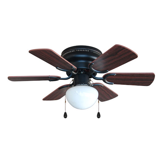 "Hugger Ceiling Fans Without Light: Oil Rubbed Bronze 30"" Hugger Ceiling Fan W/ Light Kit : 4640"
