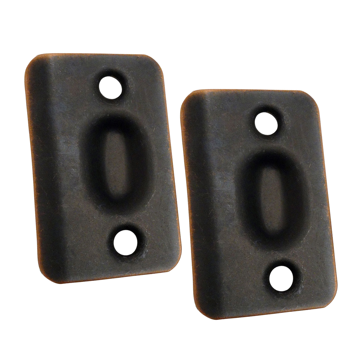 Oil Rubbed Bronze Replacement Ball Catch Strike Plates