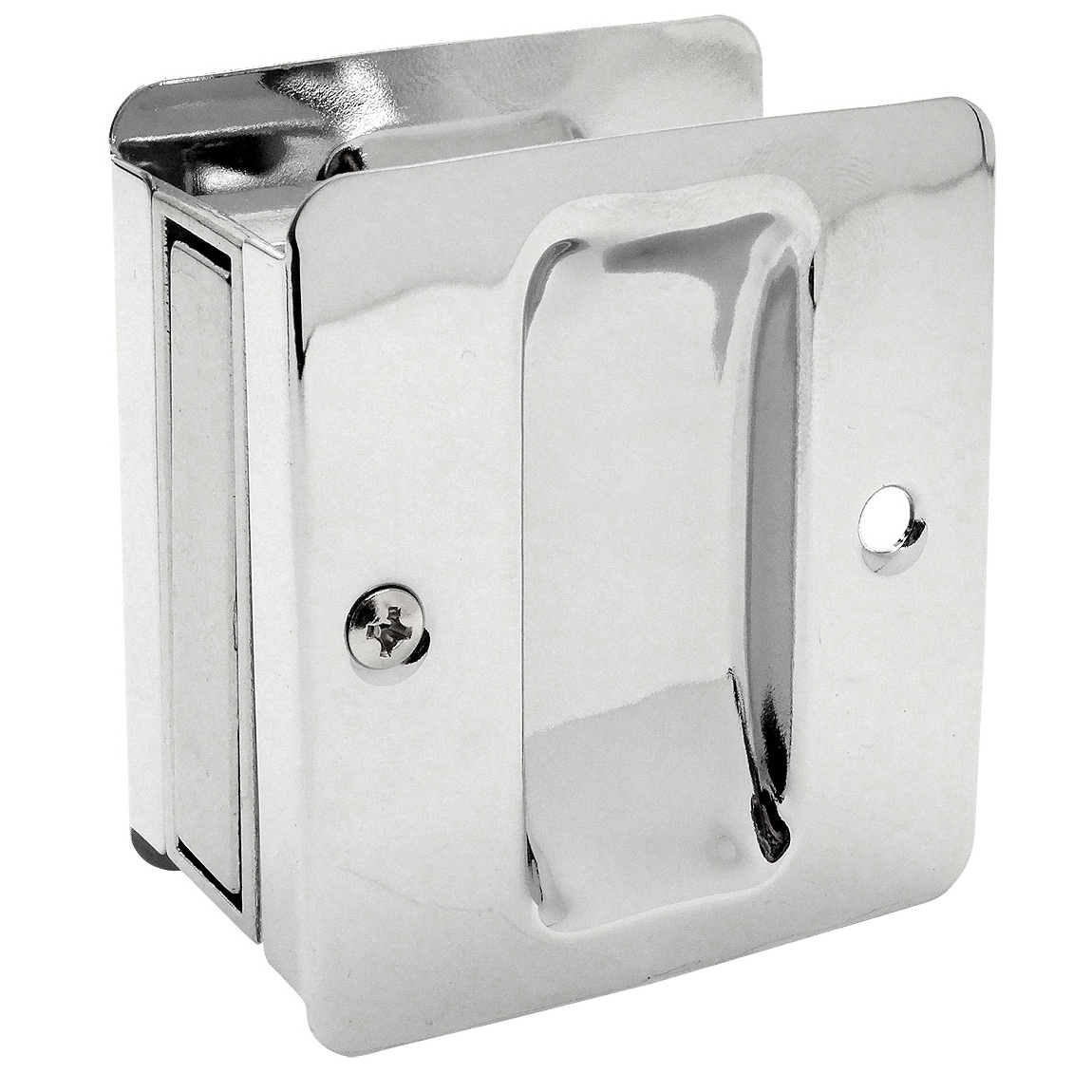 Polished Chrome Passage Pocket Door Latch