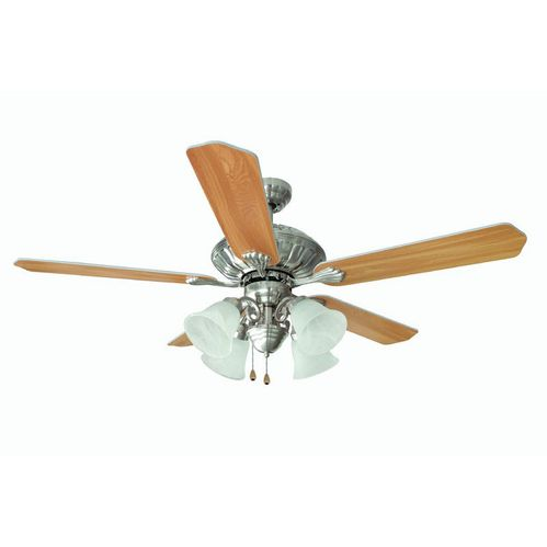 "Satin Nickel 52"" Ceiling Fan w/ Light Kit : 2957"