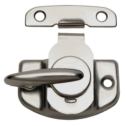 Satin Nickel Cam Action Window Sash Lock and Keeper
