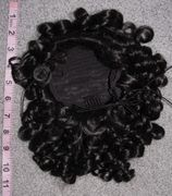 11 inch curly drawstring clearance bun cover color 2