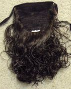 12 inch Synthetic tie on ponytail Color 6