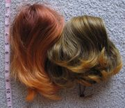 2 colorful drawstring bun covers 130horange and 2t144