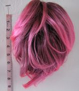 8 inch claw clip pink with black roots