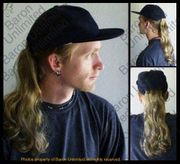 Bruce Baseball Cap with Ponytail Hairpiece