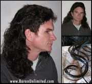 Jeff Synthetic Curly Mullet Wig - ONE LEFT BLONDE