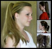 Jewel -- Clip on ponytail hair on a claw clip ONE LEFT