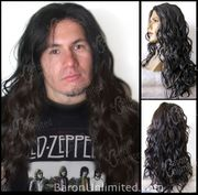 Ogue - Lace Front Hairline Wavy Curly Synthetic Man's Long Wig