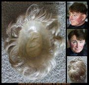 Man's Human Hair Toupee Measures 6 x 8 3/4. - out of stock