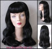 50's Pin up Girl with rounded bangs