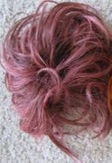 Pink and black scrunchie
