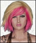 Blonde and pink bob style wig
