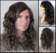 Roland Curly Synthetic Man's Wig - SALE