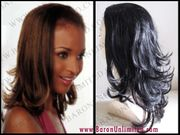 Rumba  Synthetic 3/4 Cap Hairpiece -- 21 Inches _SALE