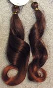 Synthetic -- extension hair 16 inches long -- Color 1bt350.