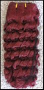 Synthetic -- TWO wefts hair 11 inches long -- Color 39 bright auburn