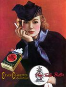 Woman in a Fancy Hat Holding a Cigarette T-shirt