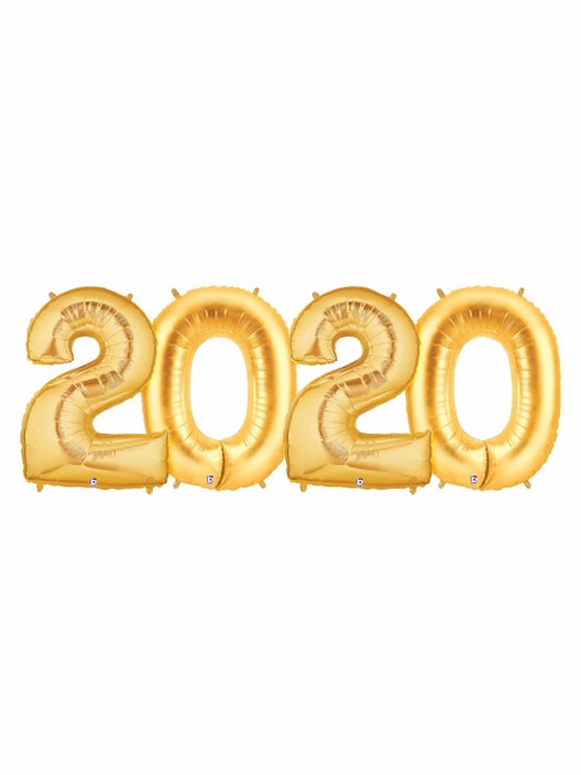 2020 Gold Number Balloons