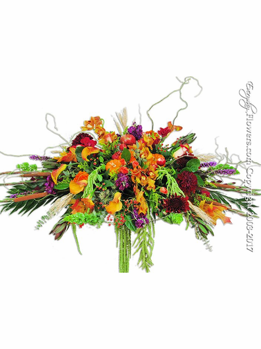 Autumn Casket Flowers