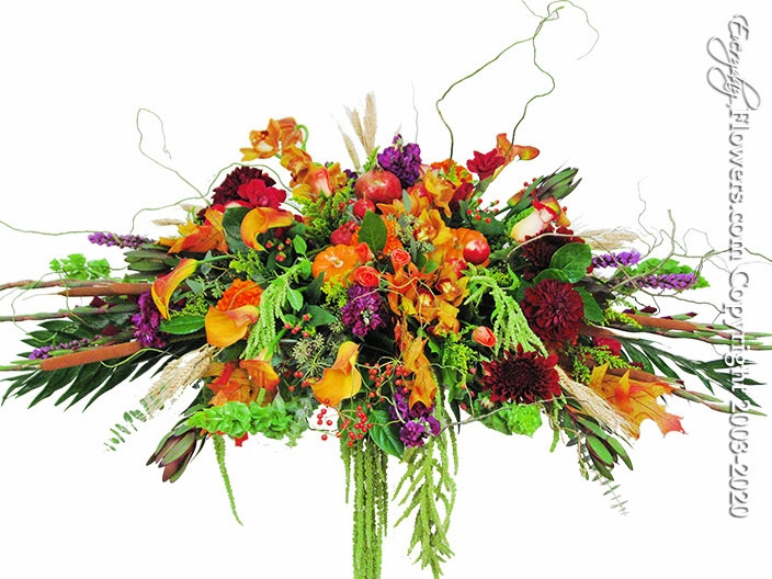 """Autumn Casket Flowers <p style=""""color:red;"""">Please Contact Us For Availability</p>"""